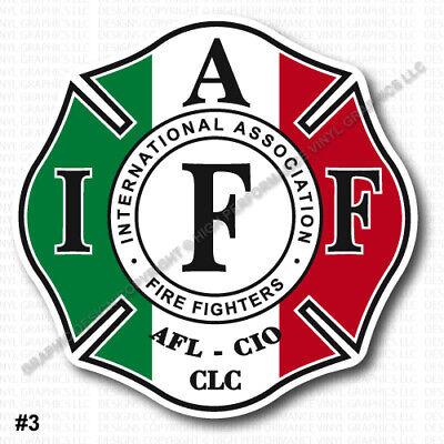 Flag Italy Helmet - IAFF Firefighter HELMET Decal 2