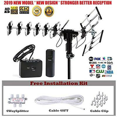 Outdoor HD TV Antenna 2019 Newest Model Up to 200 Miles Long Range UHF/VHF/FM Outdoor-hd Antenne