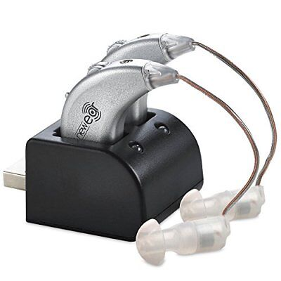 Rechargeable Pair Digital Hearing Aids Sound Amplifier Personal Ear Value Usb