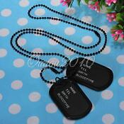 Military Dog Tag Necklace