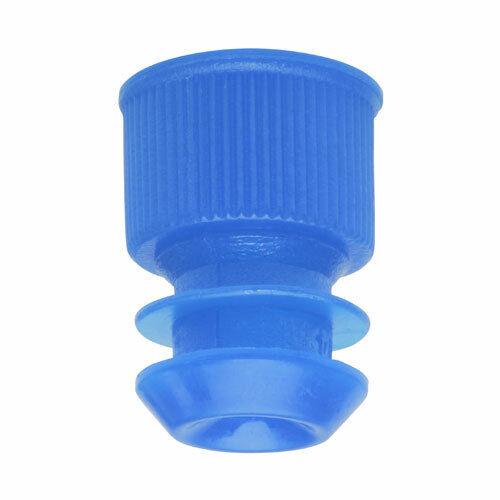 Test Tube Cap, Flange Type, 12mm, Blue (Case 20000)