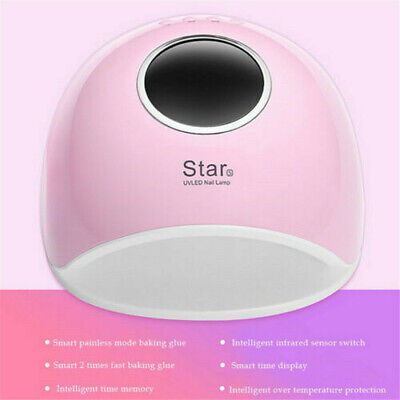 Star5 72W UV LED Lamp Nail Dryer Phototherapy Machine Fast Curing for All Gels