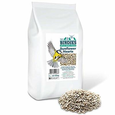 Birdies Sunflower Hearts- Bird Seed for Wild Birds -12.55kg Premium Husk Free