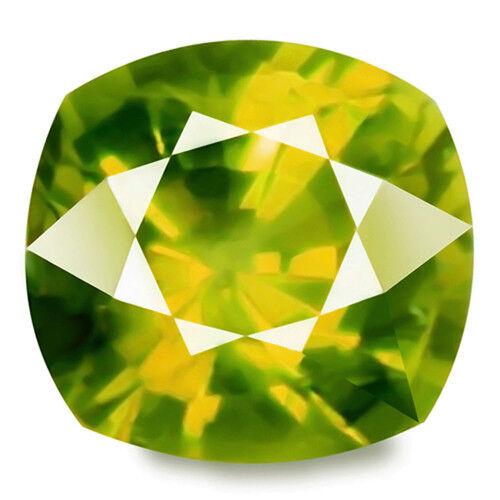 Alexandrite family Chrysoberyl 1.96ct yellowish green 100% natural earth mined