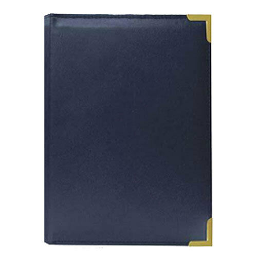 Pioneer SM-57 Brass Corner 5x7 Photo Album Navy Blue (Same Shipping Any Qty)