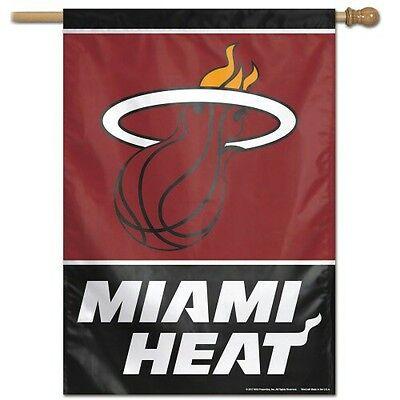 miami heat house flag 28 x40 vertical