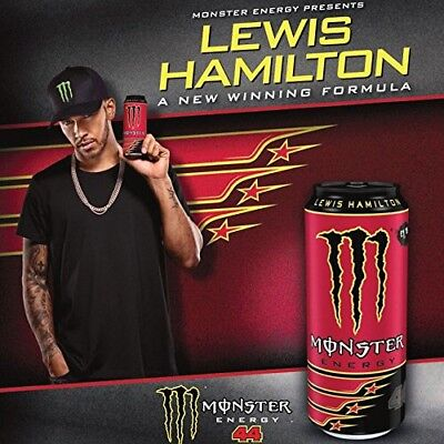 Monster Energy Drink Lewis Hamilton Can. One Full Single -