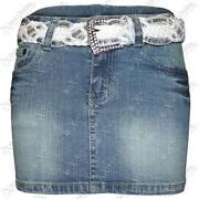 Denim Mini Skirt Size 10