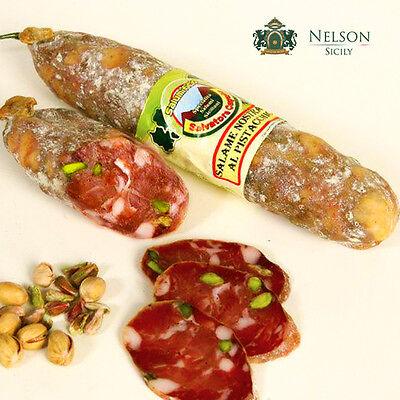 Salame Nostrano al Pistacchio - Salumificio Caputo - Specialità Salumi Siciliani