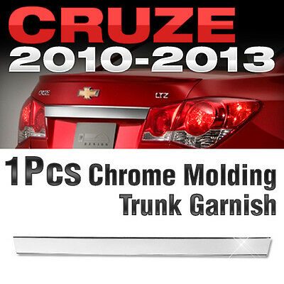 Chrome Trunk Garnish Molding Trim B742 For 2010 - 2013 CHEVROLET Cruze