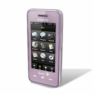 NEW SPRINT SAMSUNG INSTINCT M800 TOUCH SCREEN PINK CELL PHONE