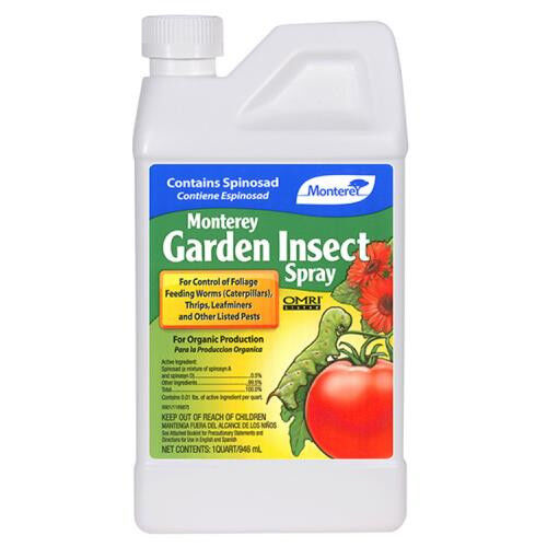 Monterey Garden Insect Spray 32 oz Liquid Concentrate w/ Spinosad - pest control