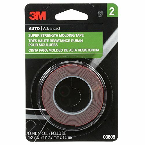 """New 3 M Universal Super Strength Molding Double Sided Tape, Permanent, 1/2""""x5"""