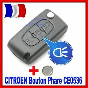 coque plip t l commande cl boitier citroen c4 picasso bouton phare ce0536 pile ebay. Black Bedroom Furniture Sets. Home Design Ideas