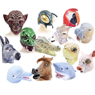 Animal Masks Adult Fancy Dress Zoo Book Characters Mens Ladies Costume Accessory