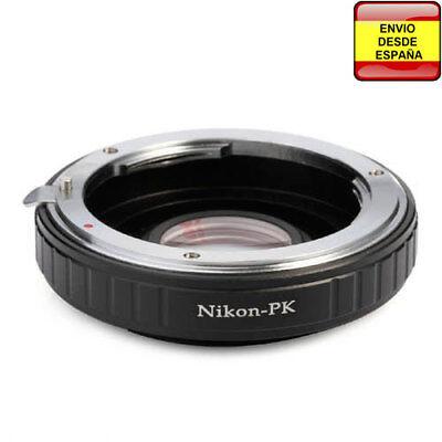 Anillo adaptador lentes Nikon a Pentax-K PK