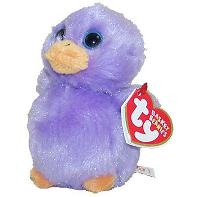 TY Basket Beanie Baby - LAVENDAR the Purple Chick (4 inch) - MWMT's Easter Toy