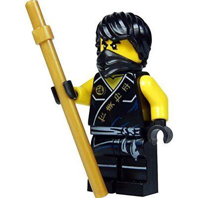 LEGO Ninjago: minifigure Cole (black Ninja) with golden Kendo stick novelty 2015