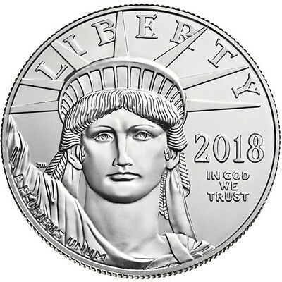 2018 1 Oz American Platinum Eagle Coin  Bu