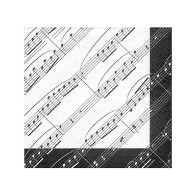Music Theme Party Napkins - Luncheon Size - Lot of 12 Packs - 20/Pack