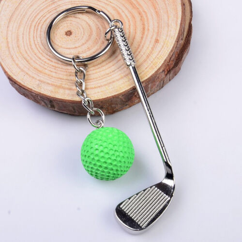 Classic Sports Silver Golf Clubs Keychain Keyring Key Chain Ring Gift White &l 10