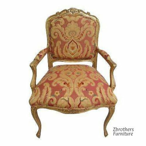 Vintage Italian Regency Tapestry Living Room Lounge Chair A