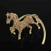 Gold Horse Earrings