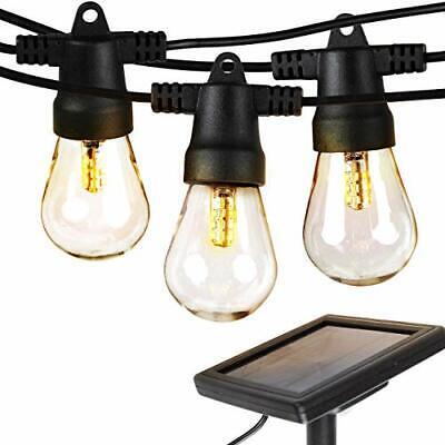 Waterproof LED Outdoor Solar String Lights -1W Vintage Edison Bulbs - 27 - Edison String Lights
