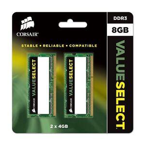 Corsair 8GB, 2x 4GB, 1333mhz PC3-10666