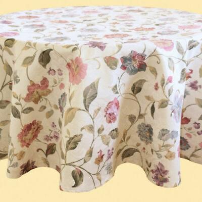 Tischdecke ca. 150 cm rund f. runder Tisch Tafel mit Druck Blume Blumen