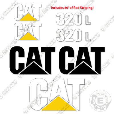 Caterpillar 320 L Excavator Decals Reproduction Stickers