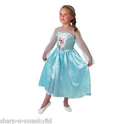 Mädchen Disney Frozen Elsa Prinzessin Büchertag Kostüm Kleid Outfit 3-14 Jahre
