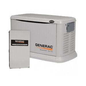 20KW Generac Guardian Automatic 6244 Home Generator  w/ 200amp Transfer Switch
