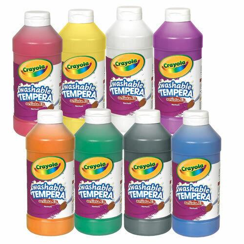 Crayola Washable Tempera Paint - Set of 8