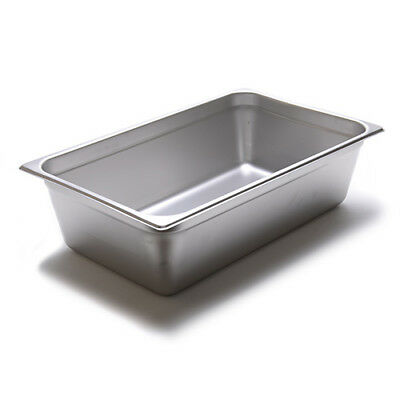 Steam Table Pan - 24 Gauge Stainless Steel Full-size 6h