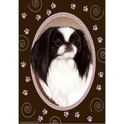Paws House Flag - Japanese Chin 17133