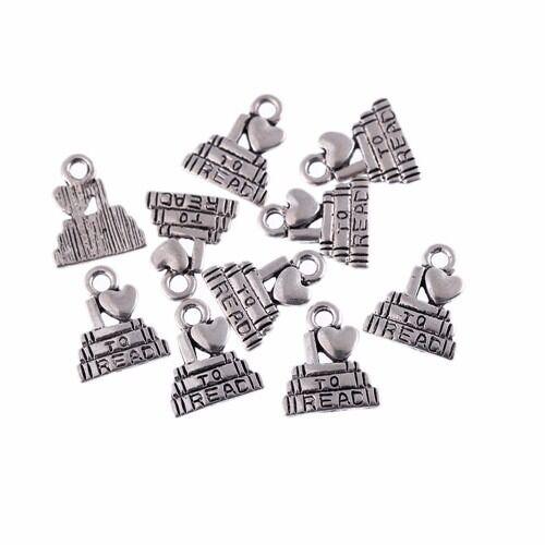 graduation caps Tibetan Silver Bead charms Pendants fit bracelet 10pcs 9*9mm