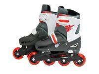 inline roller blades skates - size 3-6 (never worn)