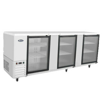 Atosa Mbb90g Three-section Back Bar Cooler With Glass Doors