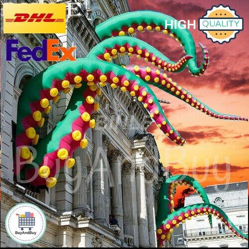Custom Made Urban-Art Outdoor Green Giant Inflatable Octopus Tentacles Pop Up