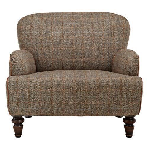 Tweed armchair ebay for Leather and tweed sofa