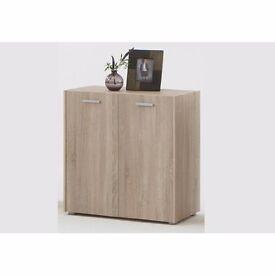 Light Canadian Oak Effect (MDF) Side Board With 2 Doors