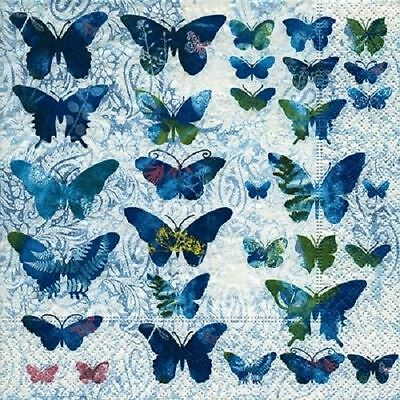 4 x Paper Napkins - Butterflies - Ideal for Decoupage / Napkin Art
