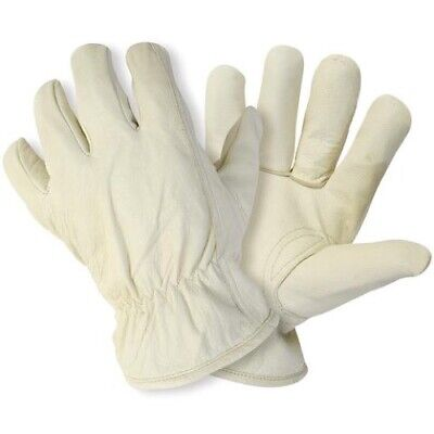 Pack (6) Briers Lined Hide Gloves Size Large B0038 NEW
