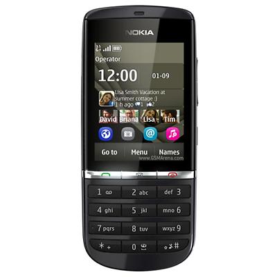 Nokia Asha 300 Gray 5.0MP Touch & Type 3G Unlocked Symbian Cell Phone