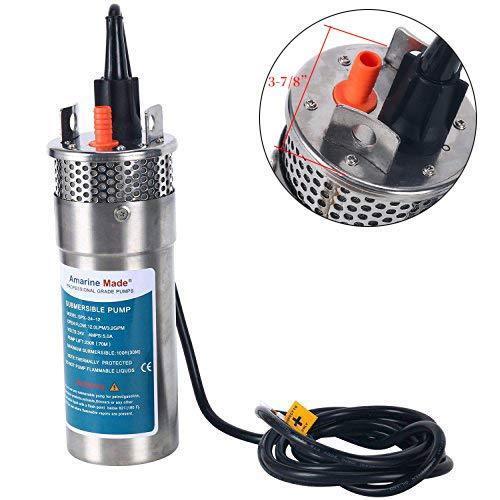 "24V Stainless 4"" Deep Well Water DC Pump Alternative Energy Solar Battery Pump"