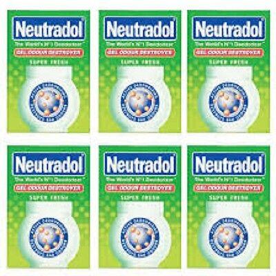 Neutradol Gel Fresh Air Freshner  140g x 6 Packs