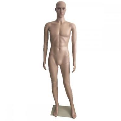 Quality Male Full Body Realistic Mannequin Display Head Turns Dress Form W Base