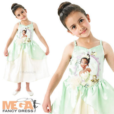 Princess Tiana Outfits (Tiana Girls Fancy Dress Princess & The Frog Disney Fairytale Kids Costume)