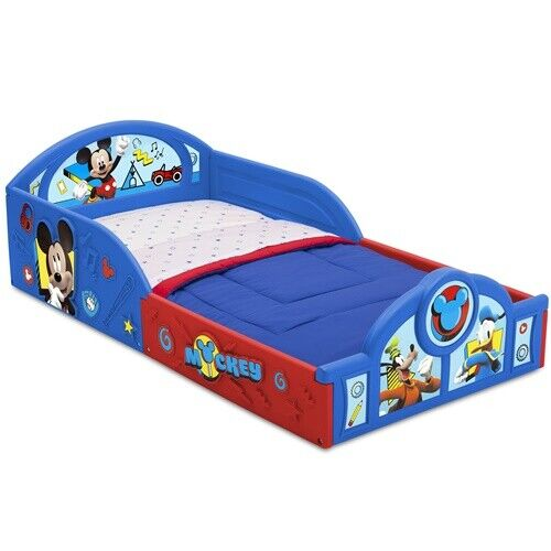 Disney Mickey Mouse Plastic Sleep and Play Toddler Bed Boys